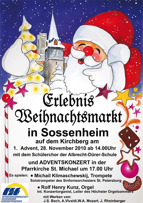einladung zum weihnachtsmarkt der isg – vereinsring sossenheim, Einladungen