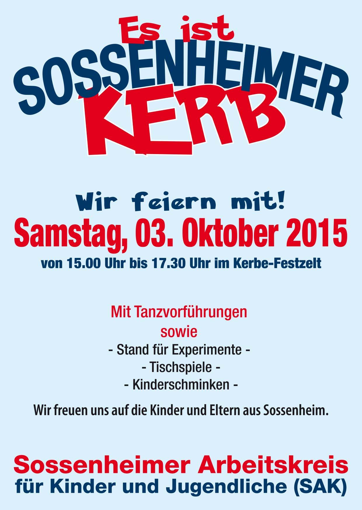 Flyer SAK Kinder Kerb 2015