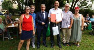 Friedensfest der SPD: Roger Podstatny für 25-jährige Mitgliedschaft geehrt