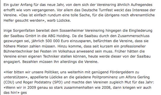 Höchster Kreisblatt vom 19.01.2009 - Fortsetzung