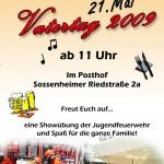 Plakat Freiwillige Feuerwehr Vatertag 2009 © Stephen Reuß