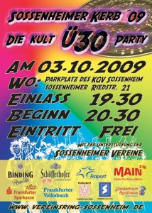 �30 Party Flyer Samstag 03.10.2009