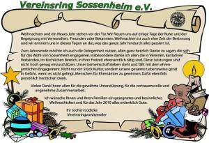 Aushang und Anzeige im Sossenheimer Wochenblatt
