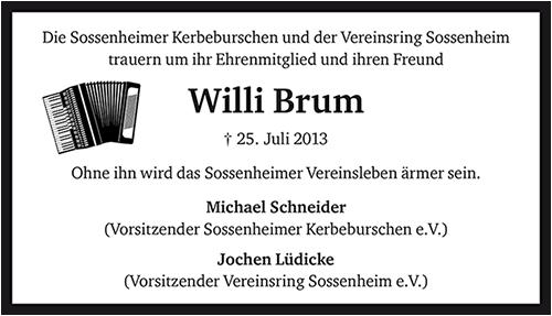 Brum-Anzeige