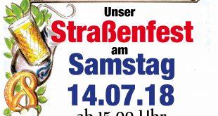 ISG – Feiern in der Sossenheimer Michaelstraße (Straßenfest) am 14.07.2018