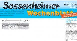 Sossenheimer Bücherwürmer e.V. – Freitag 09.11.2018